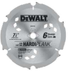 DEWALT 7-1/4 In. 6T Hardiplank Saw Blade -- Model# DW3193