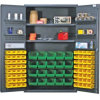 """Heavy-Duty All-Welded Storage Cabinets - 48"""" Wide - QSC-4804 - Image"""