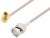 BNC Male to SSMC Plug Right Angle Cable 6 Inch Length Using RG316 Coax -- PE3C4414-6 -Image