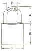Brass Padlocks -- PL8100-35