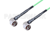 N Male Right Angle to N Male Right Angle Low Loss Cable 60 Inch Length Using PE-P160LL Coax -- PE3C5287-60 -Image