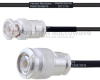 BNC Male to TNC Male MIL-DTL-17 Cable M17/119-RG174 Coax in 100 cm -- FMHR0104-100CM -Image