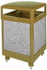 Aspen Stone Panel Hinged Top Waste Receptacle -- GPR451-BRONZE
