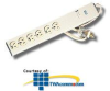 Leviton Hospital Grade 6 Outlet Plug Strip with Clear Plug -- 5300-HPS