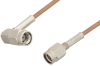 SSMA Male to SSMA Male Right Angle Cable 12 Inch Length Using RG178 Coax, RoHS -- PE36571LF-12 -- View Larger Image