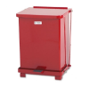Defenders Biohazard Step Can, Square, Steel, 7 gal, Red -- FGST7EPLRD
