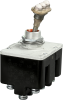 MICRO SWITCH Toggle Switches: TL Series Toggle Switch, 4 Pole Double Throw (4PDT) 3 Position, Special Circuitry (On - On - On), Pan Head Terminal Screws And Spring Lock Washers, Bar Actuator With Thre -- 4TL132-12