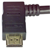 High Speed HDMI® Cable with Ethernet, Male/ Right Angle Male, LSZH, Right Exit 1.0 M -- HDRAZ-1 -Image