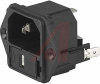 Module, Pwr Entry;Appliance Inlet;Screw-On Mt;Quick Conn.;10A;250VAC;50Hz -- 70080701
