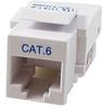 Cat6 RJ45 Keystone Jack, Tool-less, White -- 43-010WH