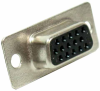 HD15 Female Solder Cup D-Sub Connector -- 500-120 -- View Larger Image