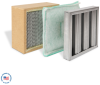 Galvanized Baffle Prefilter, Poly Panel Secondary Filter, and Primary Hepa Filter -- F-DD4