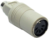 PS/2 (MiniDin6) Male to AT (Din5) Female Keyboard Adapter -- 30D5-4A - Image