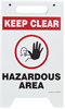 Two-Sided Keep Clear Hazardous Area Floor Sign 12
