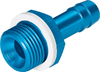 N-3/8-P-6-MS Barbed hose fitting -- 15633