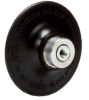 3M 14215 Medium Black Roloc TS and TSM Disc Pad - 3 in DIA - 1/4 - 20 Internal Thread Attachment -- 051144-14215 -- View Larger Image