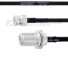 BNC Male to N Female Bulkhead MIL-DTL-17 Cable M17/84-RG223 Coax in 100 cm -- FMHR0032-100CM -Image