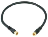 Video Cable,F Type,Coaxial,RG6,1.5ft,Blk -- 14C390