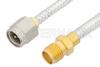 SMA Male to SMA Female Cable 60 Inch Length Using PE-SR402FL Coax -- PE3443-60 -Image