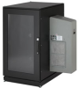 ClimateCab NEMA 12 Server Cabinet with M6 Rails and 5000-BTU AC Unit, 24U, 230V, 51
