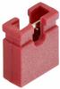 2 Pos. Female Jumper Socket, Open Shunt, Red -- M7581-05 -- View Larger Image