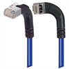 Shielded Category 6 Right Angle Patch Cable, Right Angle Left/Right Angle Up, Blue, 15.0 ft -- TRD695SRA13BL-15 -Image