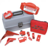 Combination Lockout Toolbox With Brady Steel Padlocks & Tags -- 754476-99685