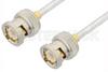 BNC Male to BNC Male Cable 6 Inch Length Using PE-SR402FL Coax, RoHS -- PE3462LF-6 -Image