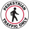 Pedestrian Traffic Only Slip-Gard Floor Sign -- SGN844 -Image