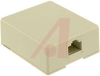 MODULAR SURFACE JACK, 8-CONDUCTOR, IVORY -- 70159765 -- View Larger Image