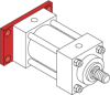 Series H Heavy Duty Hydraulic Cylinder - Model H32 NFPA Style MF2 -- Blind Rectangular Flange Mounting