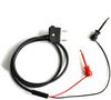 Stacking Double Banana Plug Test Cable RG58C/U to XR Mini-Hooks -- 1050XR -Image