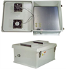 20x16x11 Inch 120VAC Weatherproof Enclosure with Dual Cooling Fans -- NB201611-10F -Image