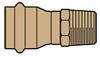 Reducing Adapter, (Press x Male NPT) - Image