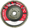 Weiler Saber Tooth Type 27 Non-Woven Ceramic Flap Disc - Coarse Grade - 4 1/2 in Diameter - 5/8 in Center Hole - 50133 -- 012382-50133