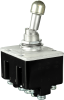 MICRO SWITCH Toggle Switches: TL Series Toggle Switch, 4 Pole Double Throw (4PDT) 3 Position, Special Circuitry (On - On - On), Pan Head Terminal Screws And Spring Lock Washers, Bright Finish Mounting -- 4TL11-12H