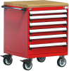 Heavy-Duty Mobile Cabinet, with Partitions -- R5BDG-3009 -Image