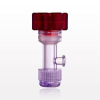 Tuohy Borst Adapter with Red Flat Cap, Female Luer Lock Sideport, Threaded Flare Connector -- 11227 -Image