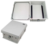 12x10x5 Inch Weatherproof NEMA 4X Rated Enclosure with DIN Mounting Rails -- NB121005-000DR -Image