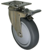 Stainless Swivel Caster with Total Locking Brake - Model 3A -- SS-3ARF4-SML