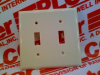 WALL PLATE PLASTIC IVORY 2GANG TOGGLE TYPE -- LT21 -Image