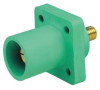 Male Receptacle,Cam-TYPE Panel ,Green -- 13N194