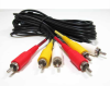 12ft 3 RCA Male to 3 RCA Male Audio Video Cable -- RA14-12 - Image