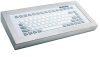 Desktop Keyboard with Silicone Keys and Metal Front Plate -- TKG-083b-MGEH-PS/2-US - Image