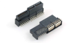 Low Profile Hybrid Power Right Angle Solder Type Edge Card Connector -- 80305-4S24P04N1 - Image
