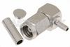 SMC Plug Right Angle Connector Crimp/Solder Attachment for RG178, RG196 -- PE4160 -Image