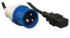 IEC 309 to C19, Heavy-Duty Extension Cord - 16A, 250V, 16 AWG, 10 ft., Black -- P070-010