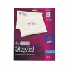Foil Mailing Labels, 3/4 x 2-1/4, Silver, 300/Pack -- 8986
