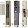 HALLOWELL Maintenance-Free Quiet Lockers -- 5864721