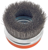 """3"""" Cup Brush Crimped Wires with Ring -- View Larger Image"""